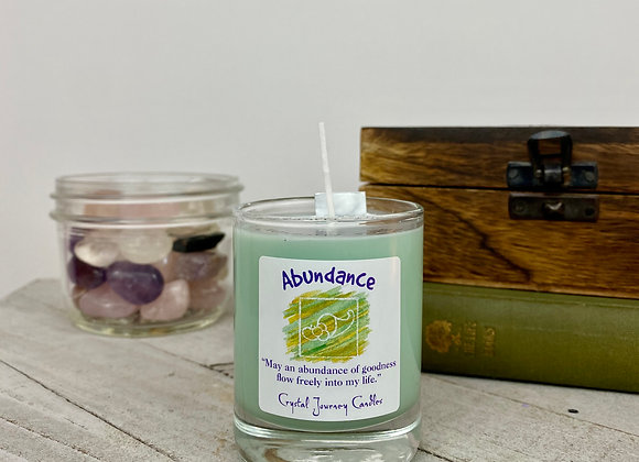 Abundance - Crystal Journey Herbal Magic Filled Votive Candles with Holder