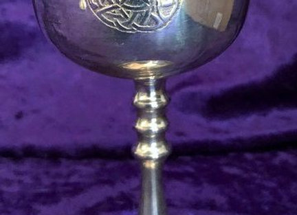 Chalice Pentacle with Triskelion