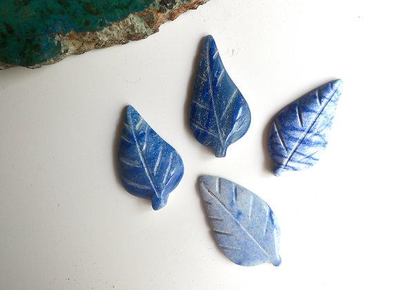 Dumortierite Mini Leaf Carving