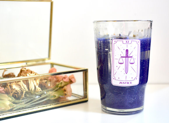 Justice -  50 Hour Tumbler Candle - Inspired by The Major Arcana Tarot Card