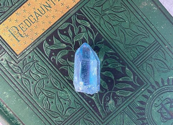 Aqua Aura Quartz Crystal Point