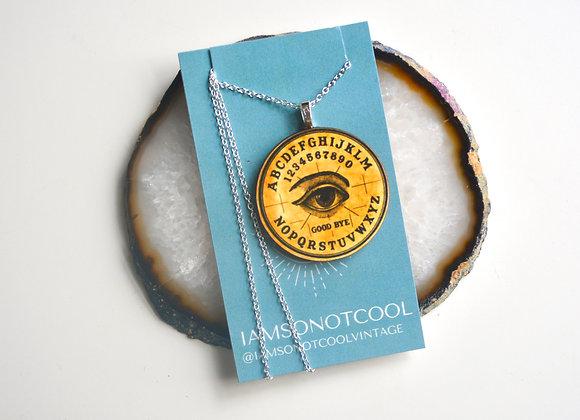 Spirit Board Pendant Necklace / Ouija Necklace