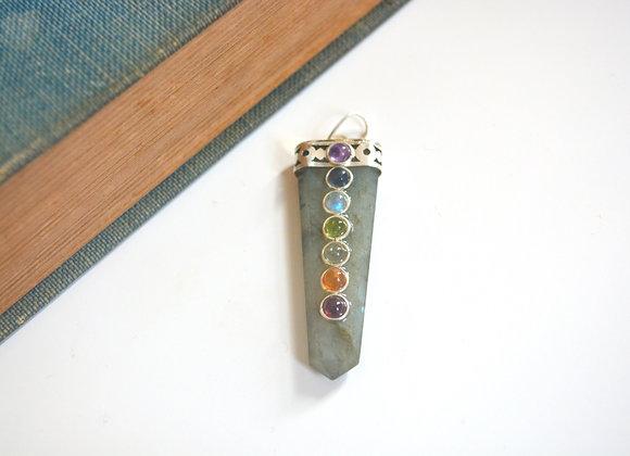Labradorite Chakra Pendant