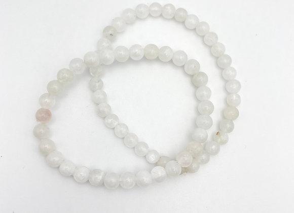 Moonstone Stretch Bead Bracelet