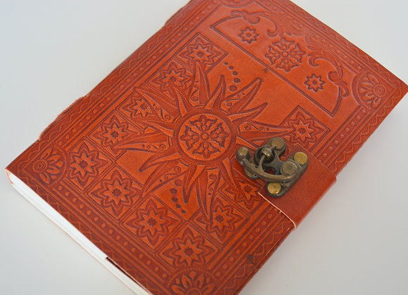 "Sun Leather Journal 5x7"" with Latch Closure"
