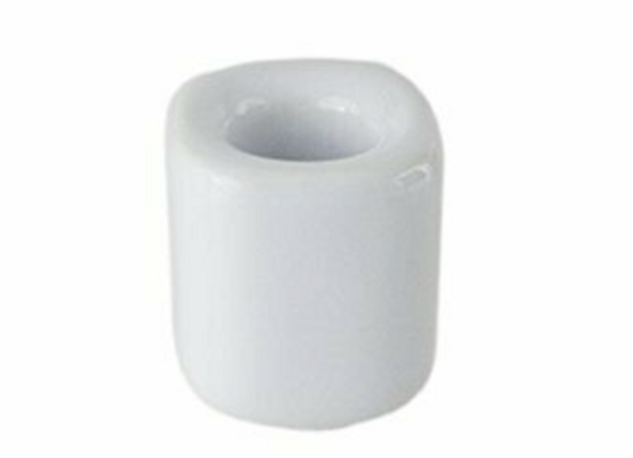 Chime Candle Holder - White Ceramic