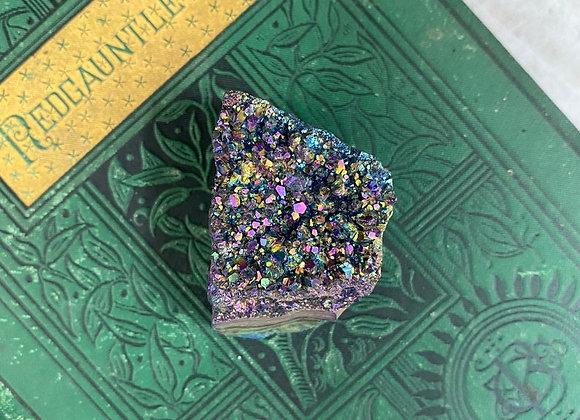 Rainbow Aura Quartz Amethyst - Raw Crystal