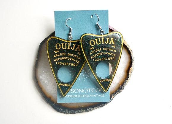 Ouija Planchette Resin Earrings