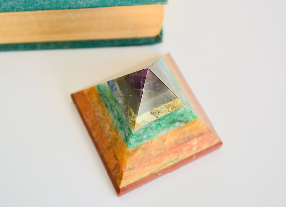 7 Chakra Crystal Pyramid