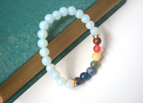 Opalite 7 Chakra - Stretch Bead Bracelet