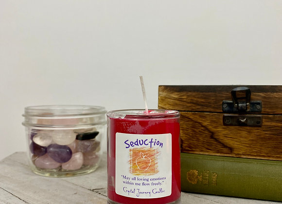 Seduction - Crystal Journey Herbal Magic Filled Votive Candles with Holder