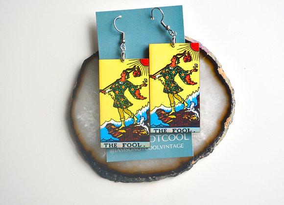 The Fool Tarot Card Earrings