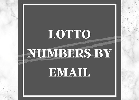 Lottery Numbers by Email