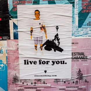 Affiche Live for you.