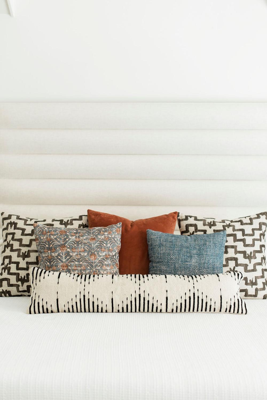 Modern transitional bedroom by Houston interior design firm Nancy Lane Interiors