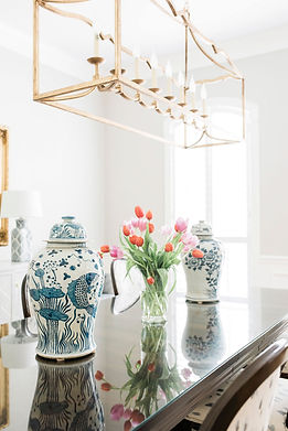 New modern traditional dining room by Houston interior design firm Nancy Lane Interiors