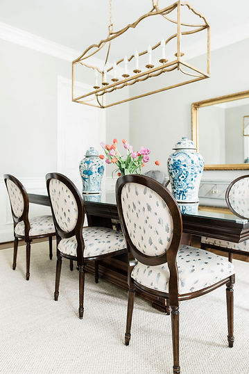 We updated this gloomy dining room and could not be happier with the results. Read more about the small but impactful changes we made on our blog...  https://www.nancylaneinteriors.com/post/high-impact-changes-for-a-small-budget-project