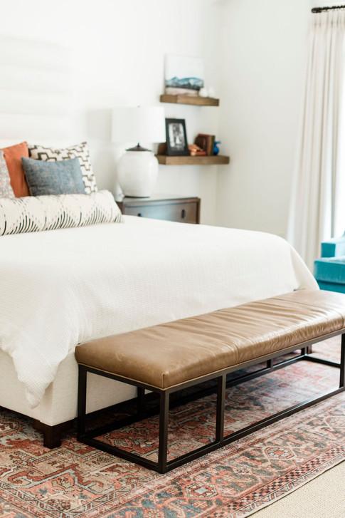 Modern Transitional Bedroom by Houston residential interior design firm Nancy Lane Interiors