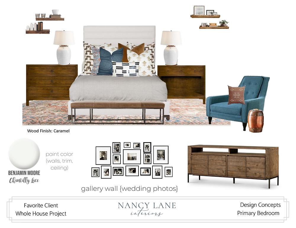 Nancy Lane Interiors Design Board example
