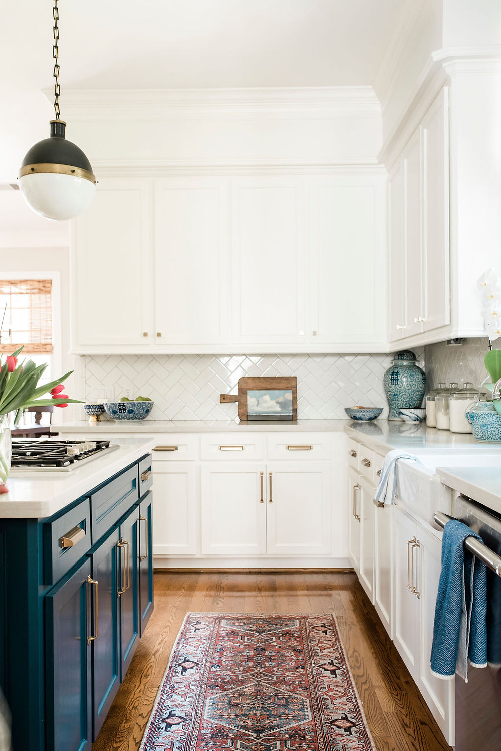 Modern traditional kitchen by Houston interior design firm Nancy Lane Interiors