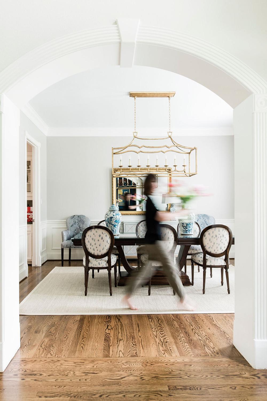 Modern transitional dining room by Houston area interior designer Nancy Lane Interiors