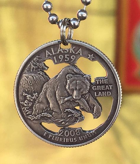 Alaska Quarter Pendant ($20-$65)