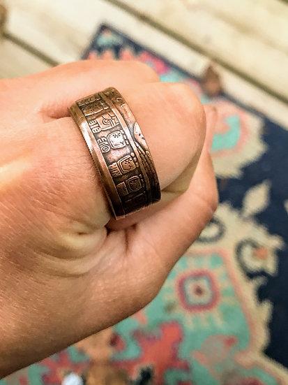 Mayan Calendar Coin Ring - .999 Copper