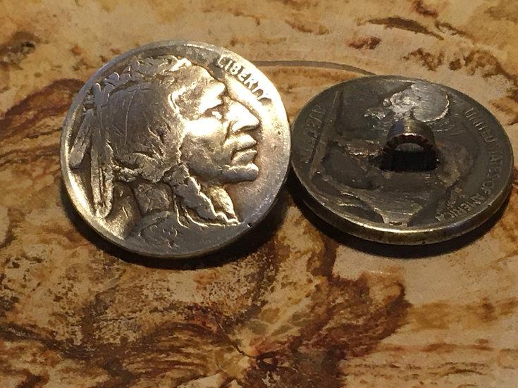 Lucky Button - Buffalo nickel (1 button)