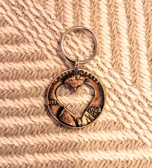 Heart Copper Penny Charm