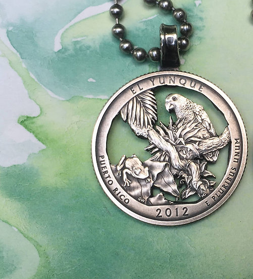 El Yunque National Forest Quarter Pendant