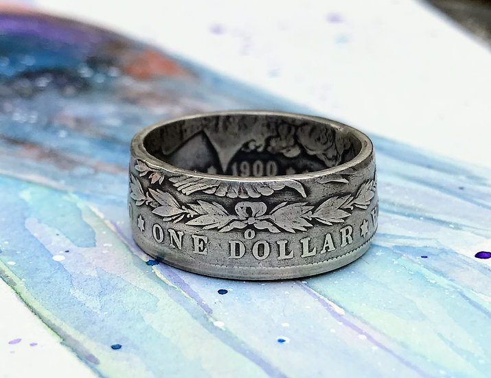 Morgan Dollar - Silver Antique coin ring
