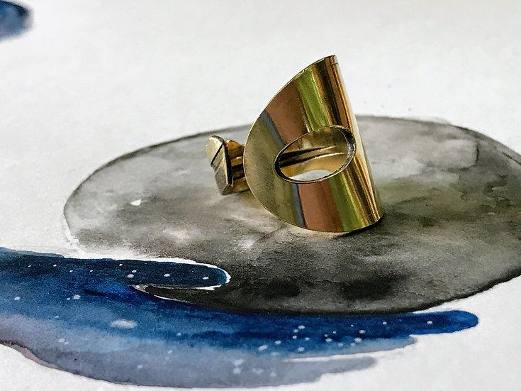 Key Ring - upcycled brass key