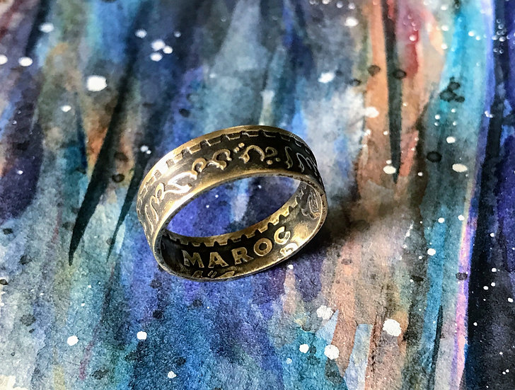 Moroccan Coin Ring - Morocco Maroc  World coin jewelry - Middle East, Arabic, Af