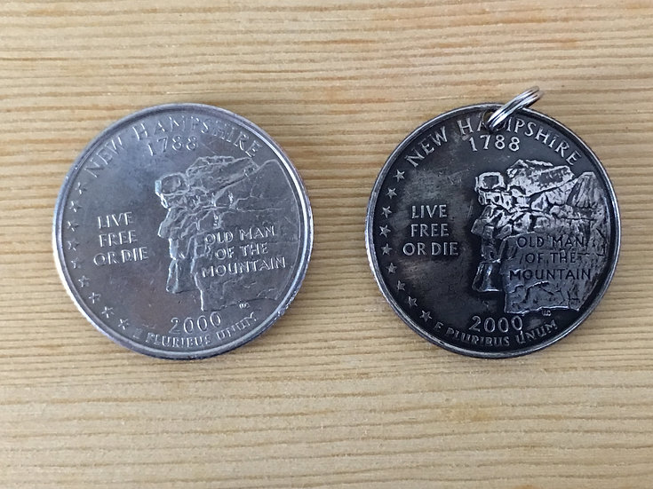 New Hampshire Quarter Pendant ($20-$60)