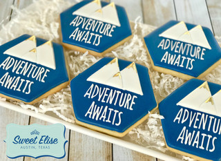 Adventure Awaits- Baby Shower Cookie Favors