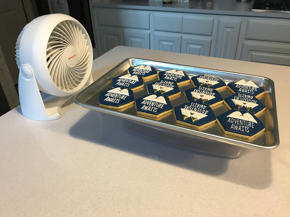 Fan drying cookies