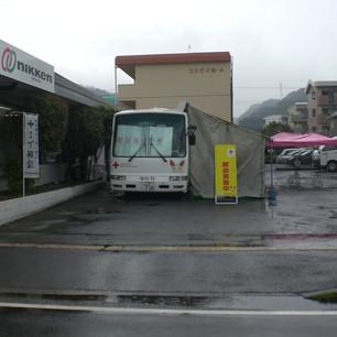 献血車がやってきた!