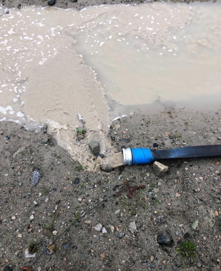 Turbid construction discharge