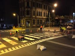 Pedestrian Crossing Install Night