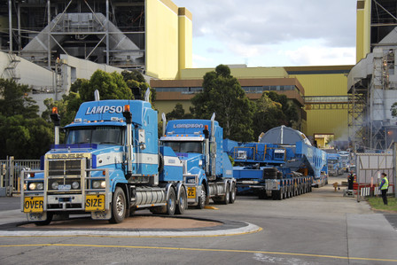 650 tonne superload truck no match for CTS Rubber Roundabout..