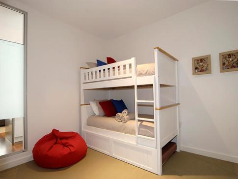Bedroom 3 Bunks & trundle under