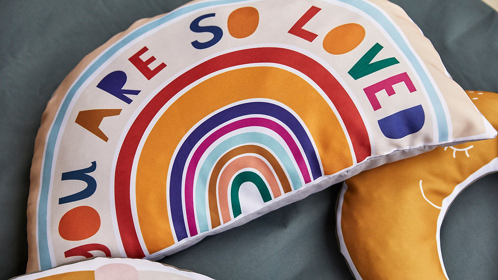 You are so loved Rainbow Cushion