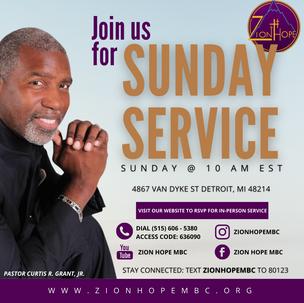 Weekly Sunday Service