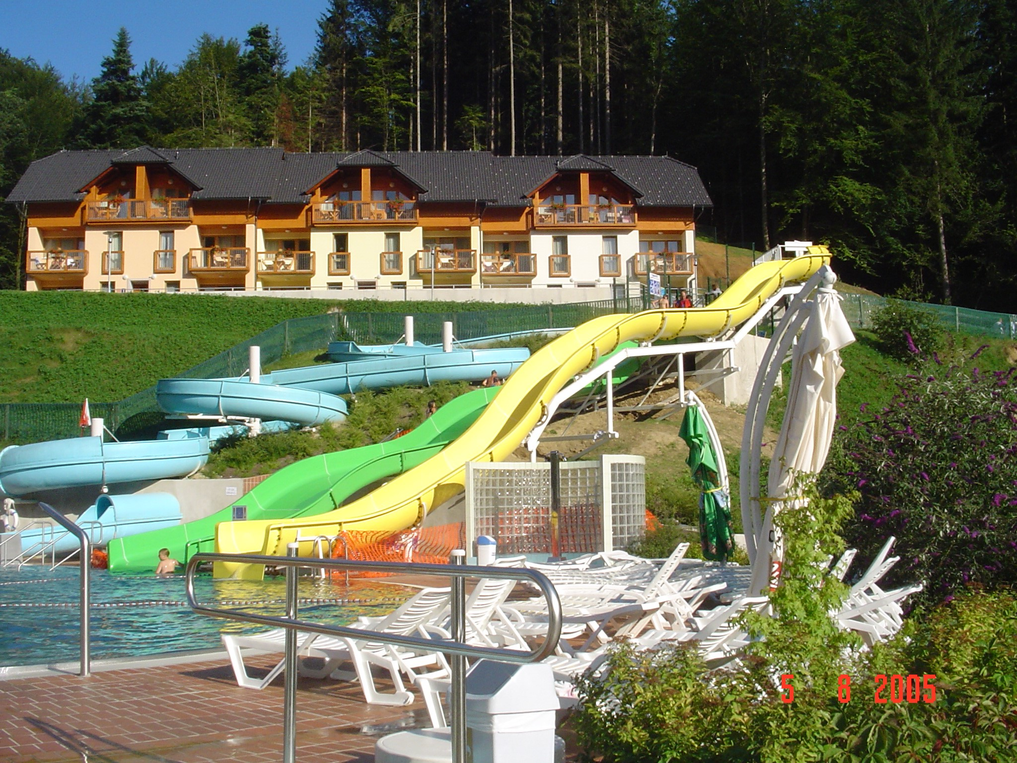 Outdoor swimming pool - slides 2