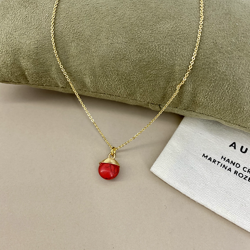 Natural Red  necklace