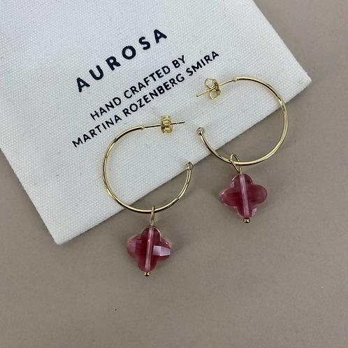 Skinny Flower pink earrings