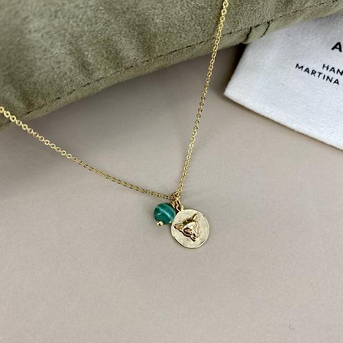 Leopard Malachite necklace
