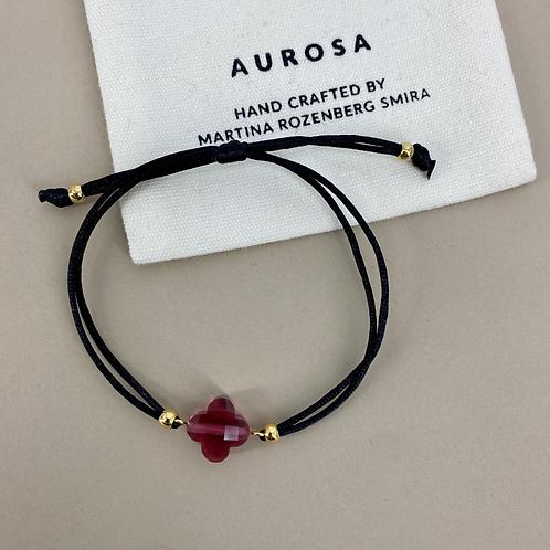 Skinny Dark Flower bracelet