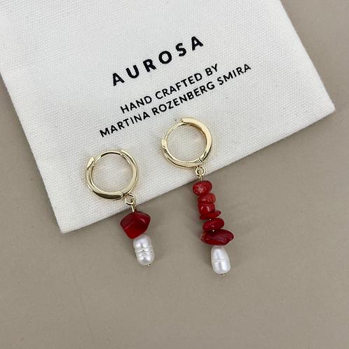 Coral Lush earrings