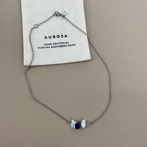 Ametyst Pearls necklace